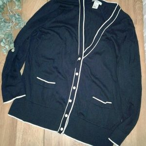 Navy Blue H&M Cardigan Large